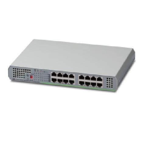Allied Telesis AT-GS910/16 Unmanaged Gigabit Ethernet (10/100/1000) Grey product photo  L