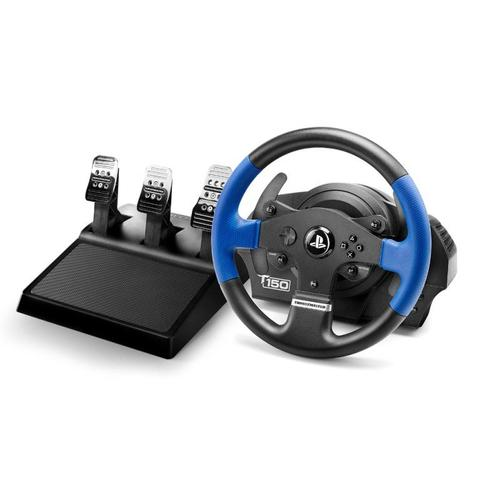 Thrustmaster T150 PRO ForceFeedback Steering wheel + Pedals PC,PlayStation 4,Playstation 3 Black,Blue product photo