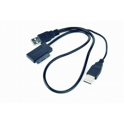 Gembird A-USATA-01 cable interface/gender adapter USB SATA 13-pin Black product photo  L
