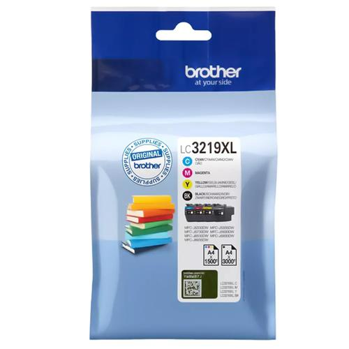 Brother LC-3219XLVAL ink cartridge Original Standard Yield Black, Cyan, Magenta, Yellow product photo