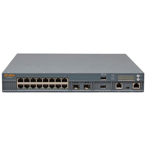 Aruba, a Hewlett Packard Enterprise company 7010 (RW) network management device 4000 Mbit/s Ethernet LAN Power over Ethernet (PoE) product photo