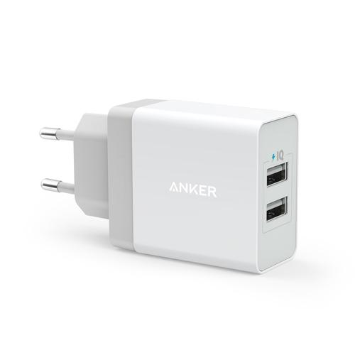 Anker 24W 2-Port USB Charger EU White product photo