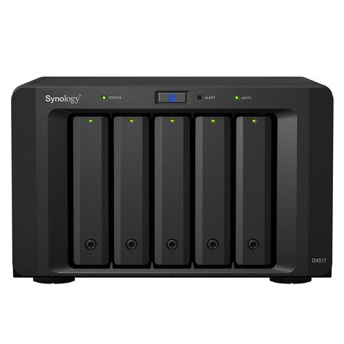 Synology DX517 disk array Desktop Black product photo