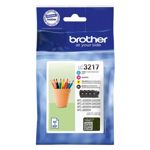 Brother LC-3217VAL ink cartridge Original Black,Cyan,Magenta,Yellow Multipack product photo