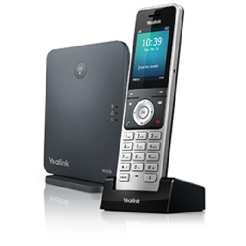 Yealink W60P IP phone Black,Silver Wireless handset TFT product photo