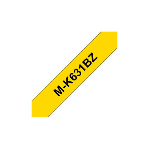 Brother 12mm Black on Yellow Plastic Tape product photo