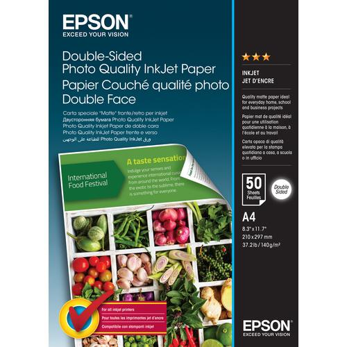 Epson Double-Sided Photo Quality Inkjet Paper - A4 - 50 Sheets product photo