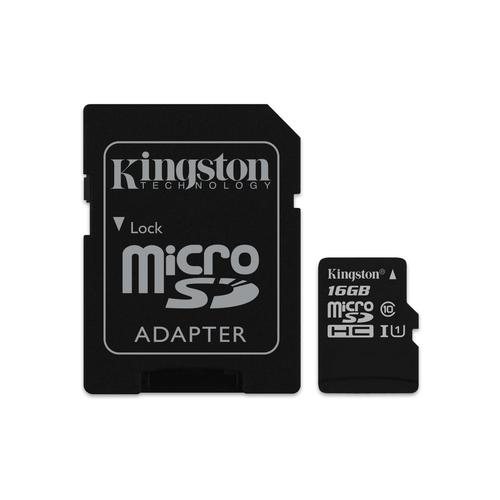 Kingston Technology Canvas Select memory card 16 GB MicroSDHC Class 10 UHS-I product photo
