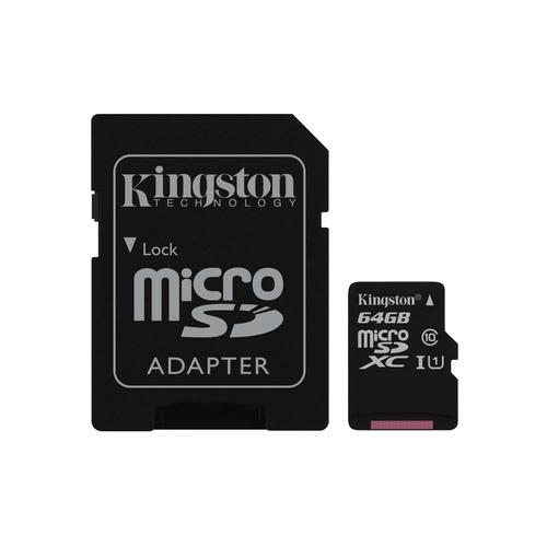 Kingston Technology Canvas Select memory card 64 GB MicroSDXC Class 10 UHS-I product photo