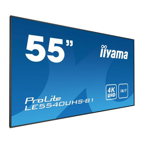 "iiyama LE5540UHS-B1 signage display 138.7 cm (54.6"") LED 4K Ultra HD Black product photo"