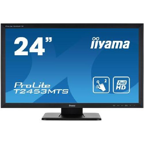"iiyama ProLite T2453MTS-B1 touch screen monitor 59.9 cm (23.6"") 1920 x 1080 pixels Black Dual-touch Tabletop product photo"