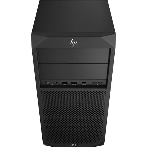 HP Z2 G4 8th gen Intel® Core™ i7 i7-8700K 16 GB DDR4-SDRAM 256 GB SSD Black Tower Workstation product photo