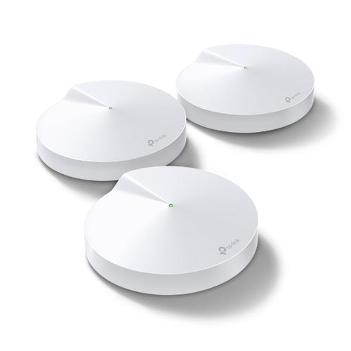 TP-Link DECO M9 Plus 3-pack Home Mesh Wi-Fi System Tri-band (2.4 GHz / 5 GHz / 5 GHz) White product photo