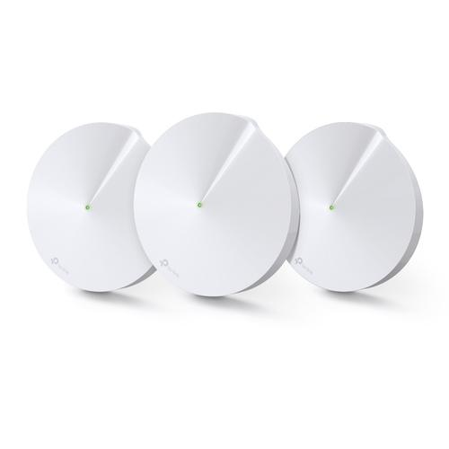TP-Link DECO M9 Plus 3-pack Home Mesh Wi-Fi System Tri-band (2.4 GHz / 5 GHz / 5 GHz) White product photo  L