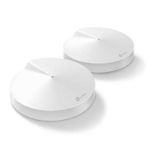 TP-Link DECO M9 Plus 2-pack Home Mesh Wi-Fi System Tri-band (2.4 GHz / 5 GHz / 5 GHz) White product photo