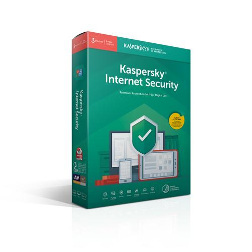 Kaspersky Lab Internet Security 2019 Base license 3 license(s) 1 year(s) Dutch, French product photo
