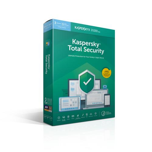 Kaspersky Lab Total Security 2019 Base license 3 license(s) 1 year(s) Dutch, French product photo