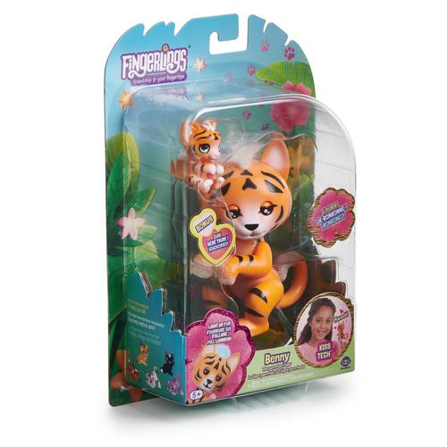 WowWee Fingerlings Baby Tiger Benny interactive toy product photo