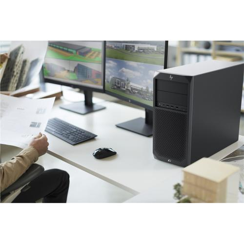 HP Z2 G4 + Z24nf G2 8th gen Intel® Core™ i7 i7-8700 8 GB DDR4-SDRAM 256 GB SSD Black Tower Workstation product photo  L