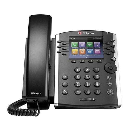 POLY VVX 411 IP phone Black Wired handset TFT 12 lines product photo