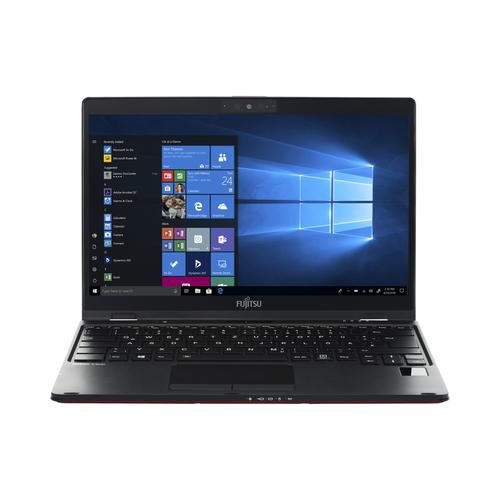 "Fujitsu LIFEBOOK U939 Notebook Black,Red 33.8 cm (13.3"") 1920 x 1080 pixels Touchscreen 8th gen Intel® Core™ i5 16 GB LPDDR3-SDRAM 512 GB SSD Wi-Fi 5 (802.11ac) Windows 10 Pro product photo"