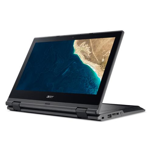 "Acer TravelMate Spin B1 TMB118-G2-R-C2DR Black Hybrid (2-in-1) 29.5 cm (11.6"") 1366 x 768 pixels Touchscreen Intel® Celeron® 4 GB DDR4-SDRAM 128 GB SSD Wi-Fi 5 (802.11ac) Windows 10 Pro product photo"