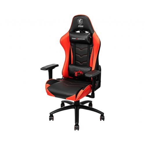 MSI MAG CH120 Gaming Chair 'Black and Red, Steel frame, Recline-able backrest, Adjustable 4D Armrests, breathable foam, 4D Armrests, Ergonomic headrest pillow, Lumbar support cushion' product photo