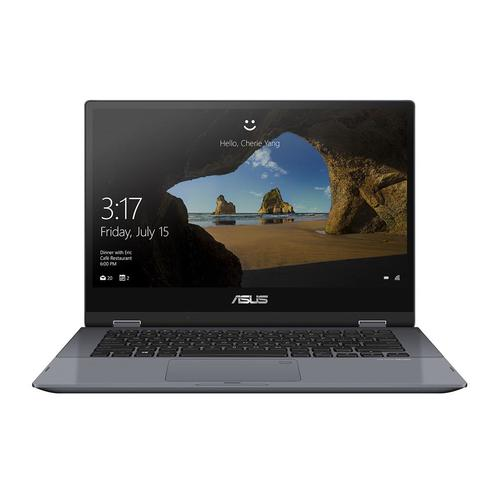 "ASUS VivoBook Flip TP412FA-EC011T Grey Hybrid (2-in-1) 35.6 cm (14"") 1920 x 1080 pixels Touchscreen 8th gen Intel® Core™ i3 8 GB DDR4-SDRAM 256 GB SSD Windows 10 Home product photo"
