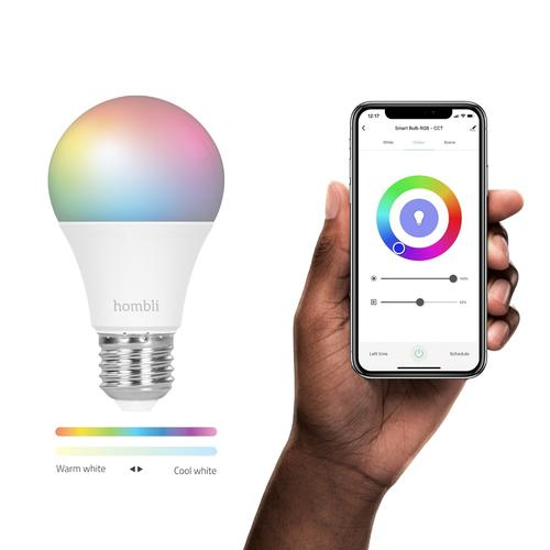 Hombli Smart Bulb (9W) RGB + CCT (E27) White Wi-Fi product photo