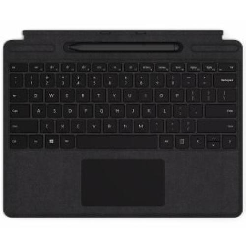 Microsoft QJV-00007 mobile device keyboard QWERTY English Black Microsoft Cover port product photo