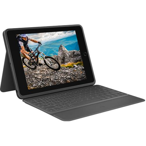 Logitech Rugged Folio mobile device keyboard AZERTY French Graphite USB Type-C product photo