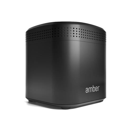 Amber Plus Ethernet LAN Compact Black NAS product photo  L