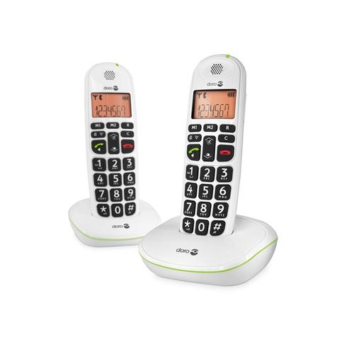 Doro PhoneEasy 100w duo DECT telephone White Caller ID product photo