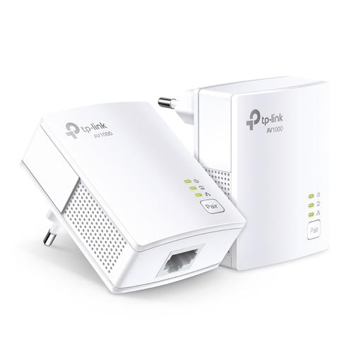 TP-LINK TL-PA7017 KIT PowerLine network adapter 1000 Mbit/s Ethernet LAN White 2 pc(s) product photo