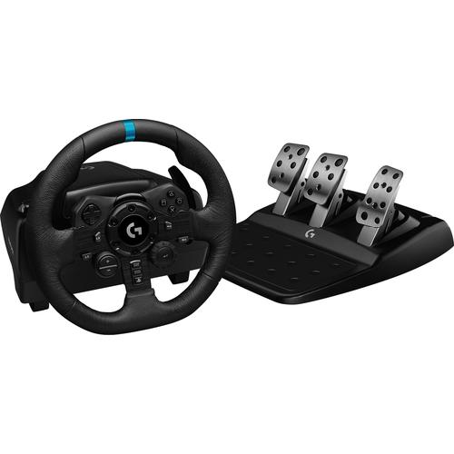 Logitech G G923 Black USB Steering wheel + Pedals PC, PlayStation 4 product photo