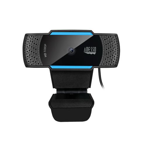Adesso CyberTrack H5 webcam 2.1 MP 1920 x 1080 pixels USB 2.0 Black, Blue product photo
