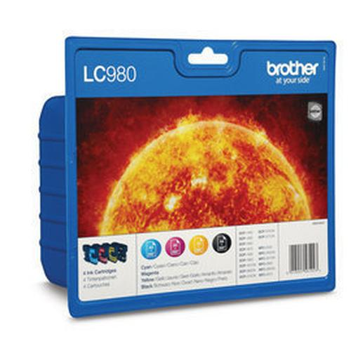 Brother LC-980VALBP ink cartridge Original Black, Cyan, Magenta, Yellow 4 pc(s) product photo