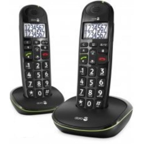 Doro PhoneEasy 110 DECT telephone Black Caller ID product photo