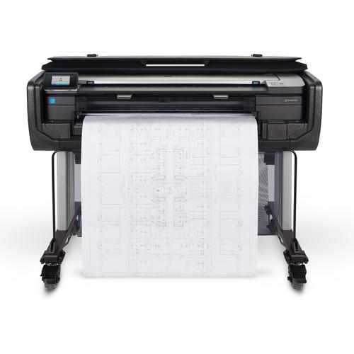 HP Designjet T830 36-in large format printer Colour 2400 x 1200 DPI Thermal inkjet 914 x 1897 mm Wi-Fi product photo