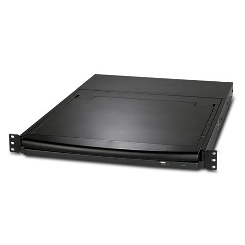 "APC AP5808 rack console 43.2 cm (17"") Black product photo  L"