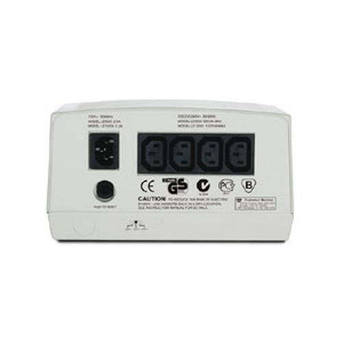 APC Line-R voltage regulator 230 V 4 AC outlet(s) Beige product photo