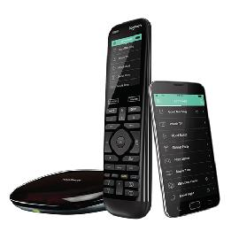 Logitech Harmony Elite remote control Audio,CABLE,DVR,Game console,Home cinema system,PC,Smartphone,TV,Tablet Touch screen product photo