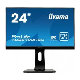 "iiyama ProLite XUB2492HSU-B1 LED display 60.5 cm (23.8"") 1920 x 1080 pixels Full HD Flat Matt Black product photo"