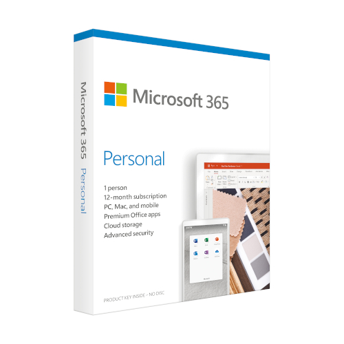 Microsoft 365 Personal 1 year English product photo
