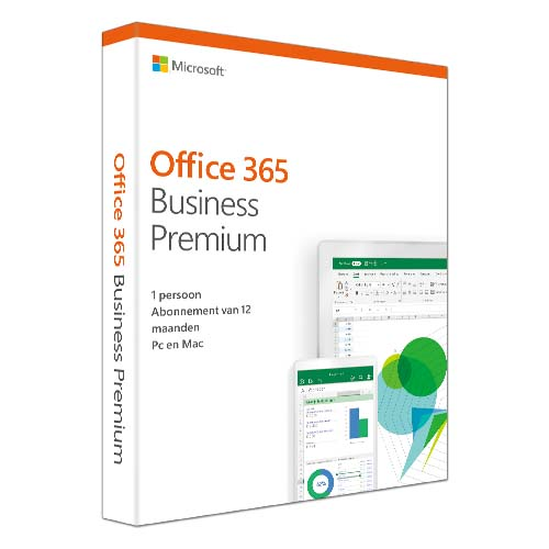 Microsoft Office 365 Business Premium 1 licentie(s) 1 jaar Nederlands productfoto
