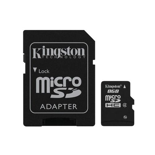 Kingston Technology SDC4/8GB flashgeheugen MicroSD Flash productfoto