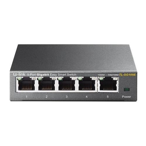 TP-Link TL-SG105E Switch Unmanaged Gigabit Ethernet (10/100/1000) 5 poorten productfoto
