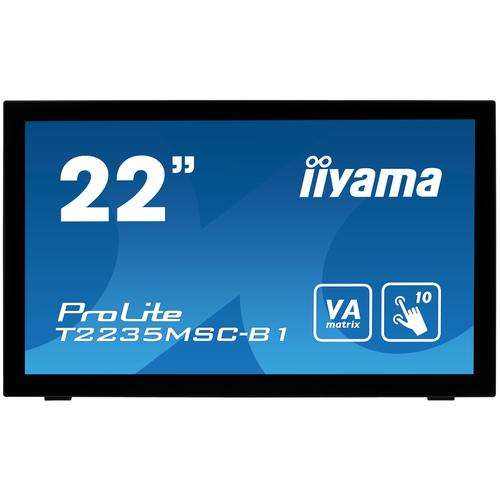 "iiyama ProLite T2235MSC touch screen-monitor 54,6 cm (21.5"") 1920 x 1080 Pixels Zwart Multi-touch Tafelblad productfoto"