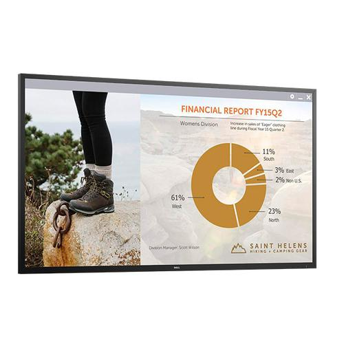 "DELL C7016H 176,5 cm (69.5"") LED Full HD Digitale signage flatscreen Zwart productfoto"
