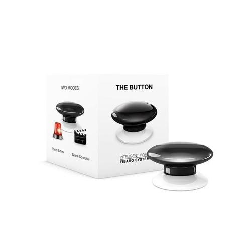 Fibaro The Button Black paniekknop Draadloos Alarm productfoto